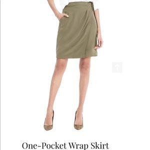 Banana Republic One Pocket Wrap Skirt